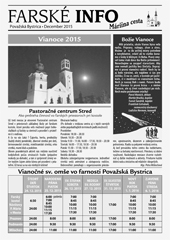 Farské info - december 2015